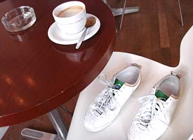 shoes and coffee