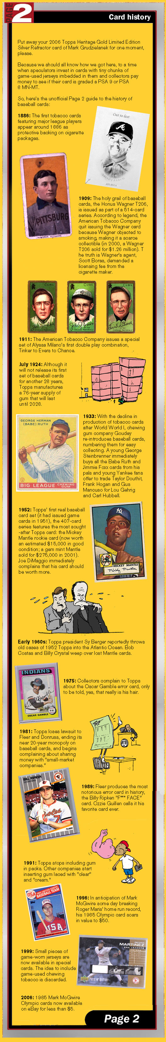 Espncom Page 2 A Short History Of Baseball Cards
