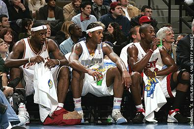 LeBron James, Carmelo Anthony, Dwyane Wade