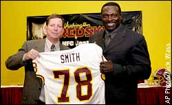 Norv Turner and Bruce Smith