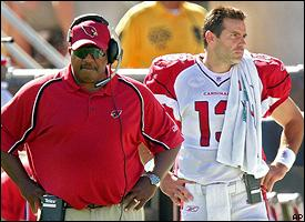 Dennis Green & Kurt Warner