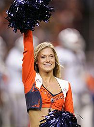Denver Broncos cheerleader