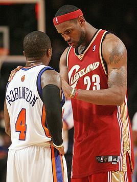LeBron James and Nate Robinson