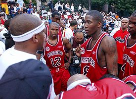 Sebastian Telfair, Jamal Crawford and Smush Parker
