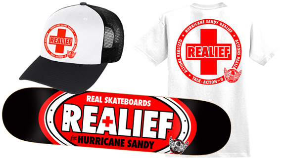 Real Skateboard s REALief boards and products raise funds for Sandy ... f99f2bc2bba