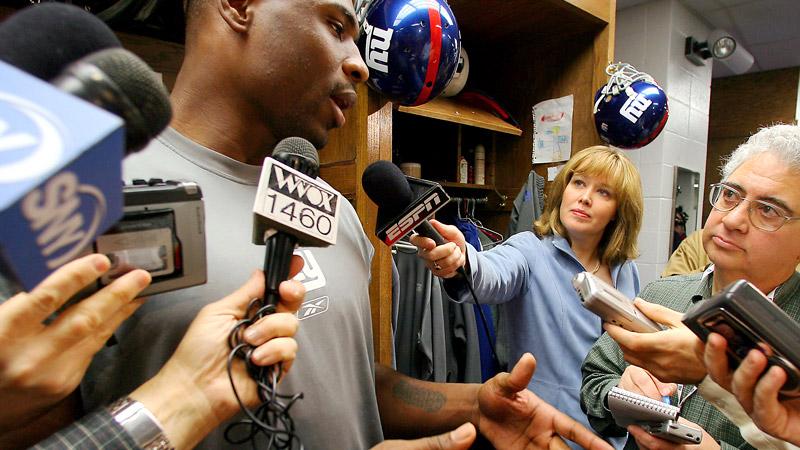 Male reporters in womens locker rooms