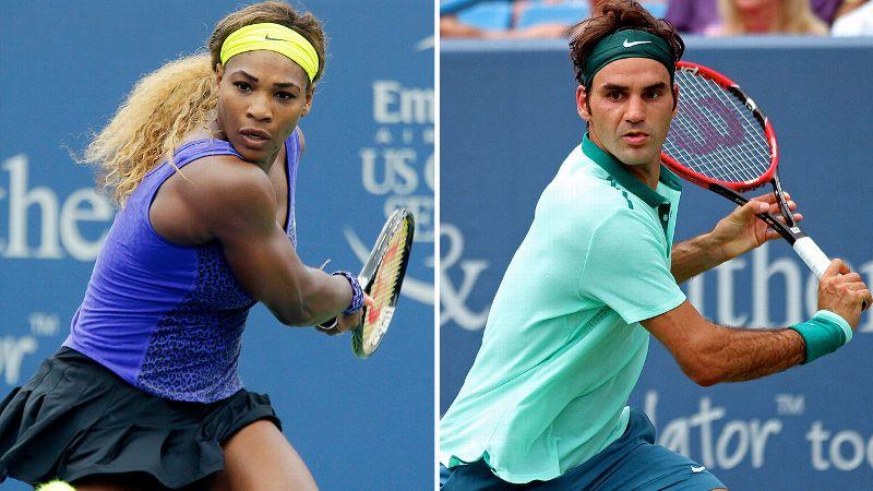 Image result for Federer, Serena,