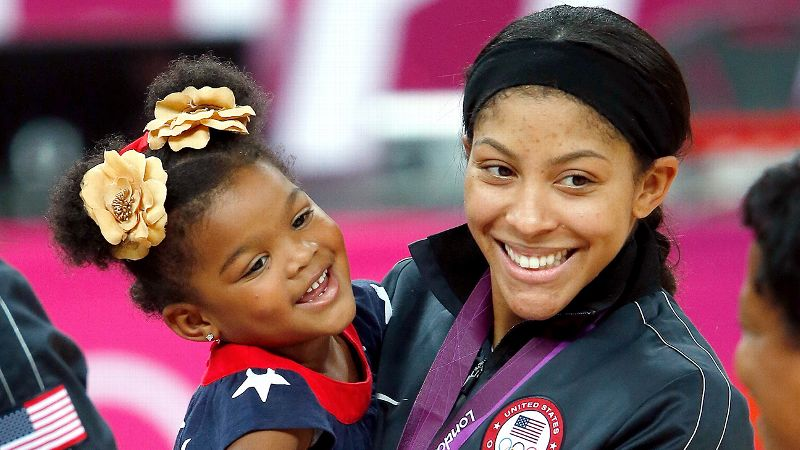 Photo of Candace Parker & her Daughter  Lailaa Nicole Williams