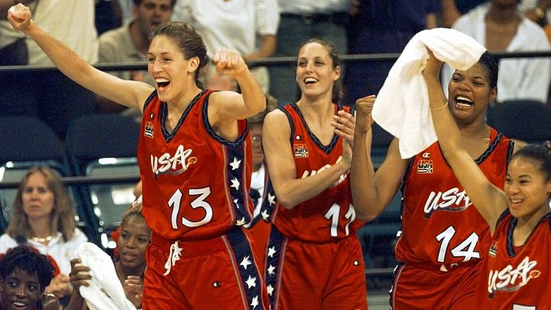 Flash back 20 years to the atlanta 1996 olympics when women 1996 us olympic womens basketball team freerunsca Image collections