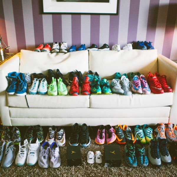 a04291fb9a1 Hartley and her son Bryon s kick collection lines the entire living room.  Cassandra Giraldo for ESPN