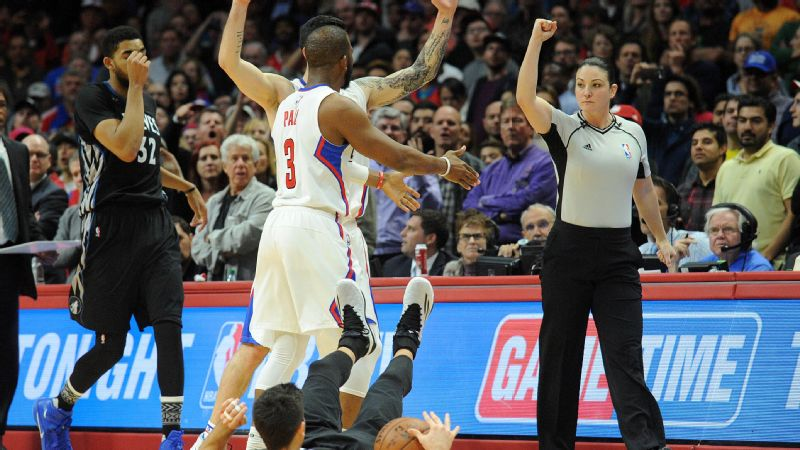 Lauren Holtkamp's cool job -- NBA referee