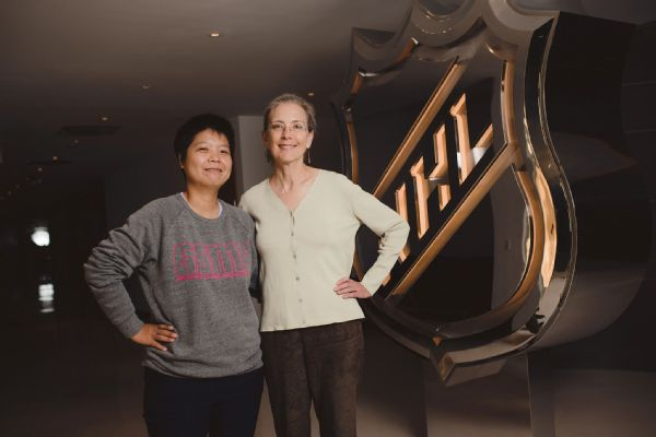 a463dc3e8a9 Po-Chun Liu and Susan Cohig were partnered for the Global Sports Mentoring  Program.