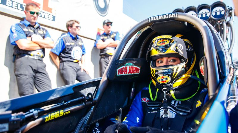 Funny Car driver Courtney Force has found her groove with
