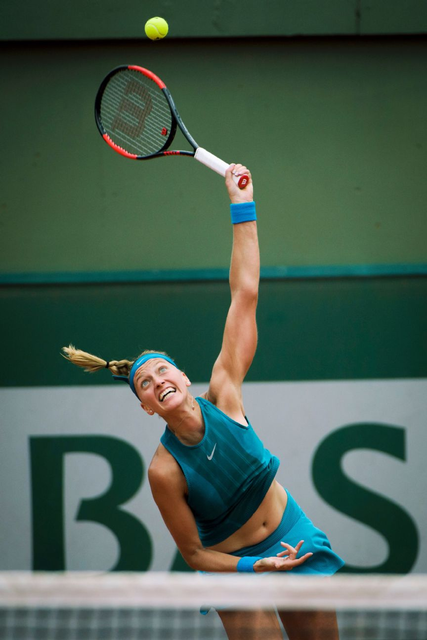 Kvitova, who is left-handed, is known for her serve and powerful forehand.