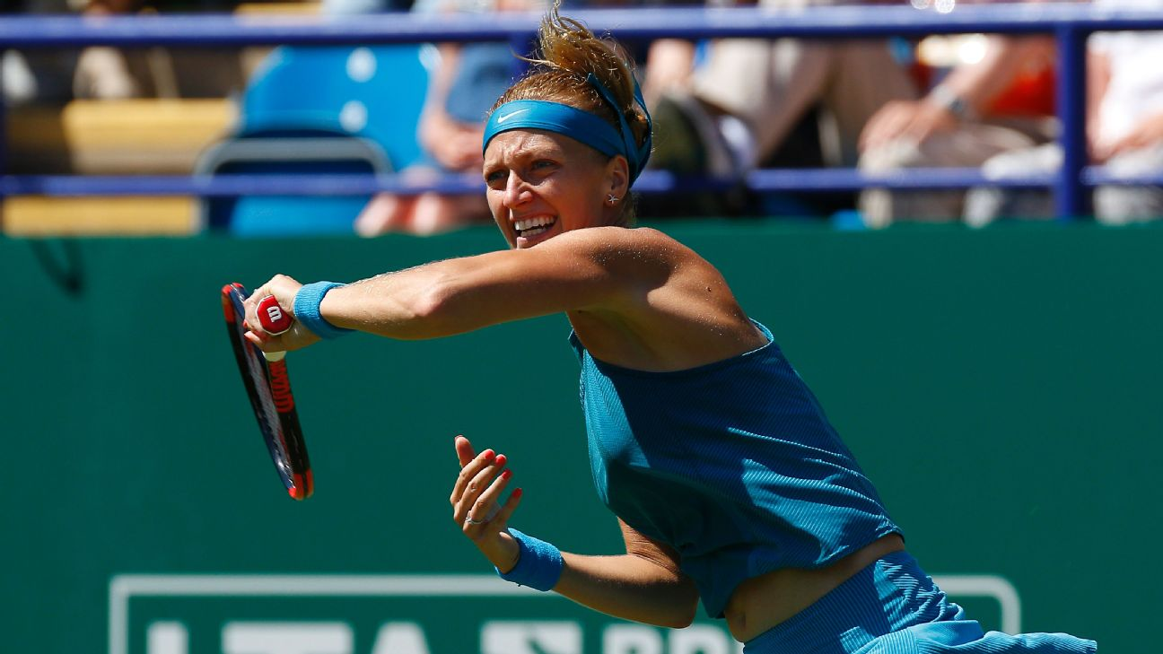 Petra Kvitova continued to impress with a straight-sets victory over Kateryna Bondarenko in the second round at the Eastbourne International on Tuesday.