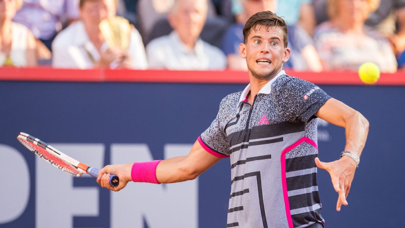 Top-seeded Dominic Thiem and a returning Stan Wawrinka both won their quarterfinal matches at the St. Petersburg Open on Friday.