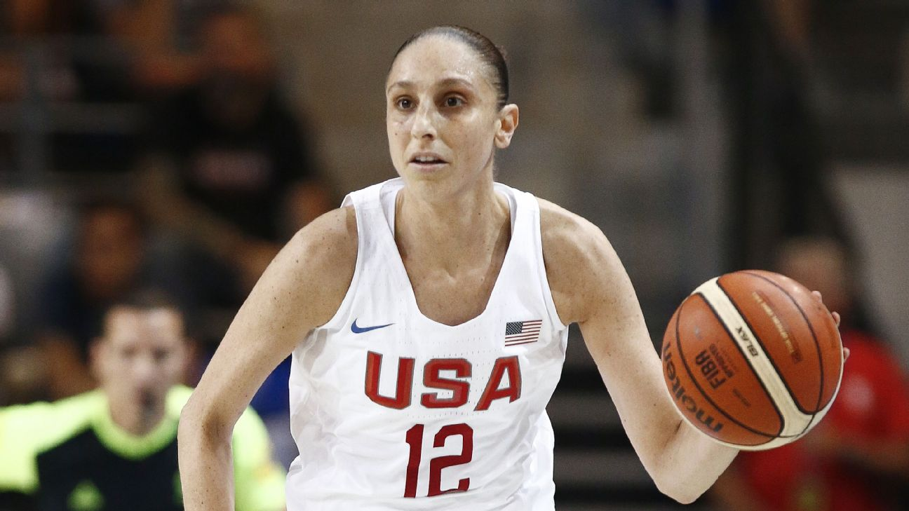 Diana Taurasi and the U.S. women are grouped with China, Latvia and Senegal.