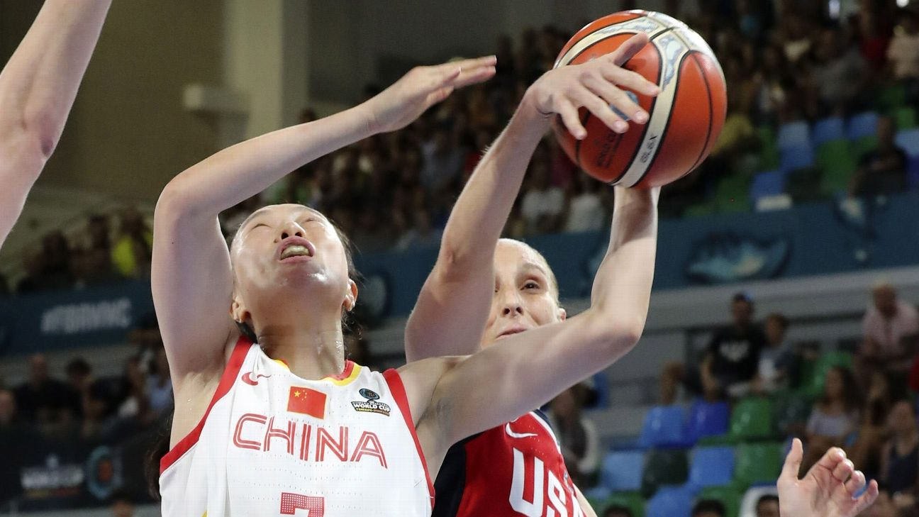 Breanna Stewart scored 21 of her 23 points in the second half and A'ja Wilson added 20 to help the United States beat China 100-88 on Sunday in the second day of the FIBA Women's Basketball World Cup.