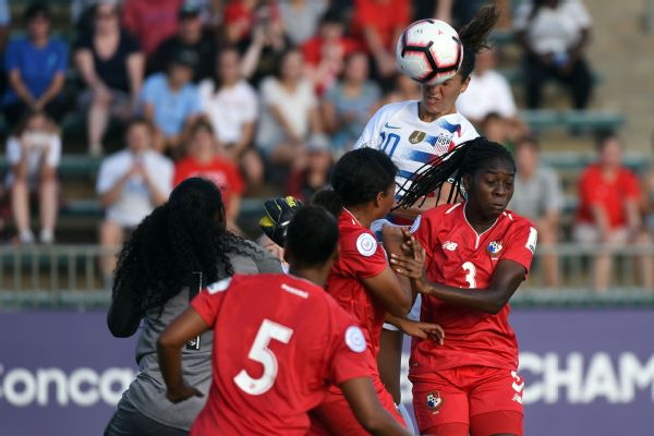 96ae50b7b85 Carli Lloyd s hat trick leads USWNT past Panama in World Cup qualifier