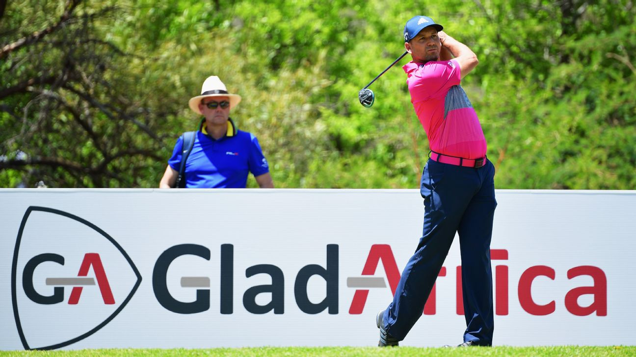 Home favourite Louis Oosthuizen produced a strong back nine to card a five-under-par 67 and trail leader Sergio Garcia by one shot at the halfway stage of the European Tour's Nedbank Golf Challenge at the Gary Player Country Club, Sun City.