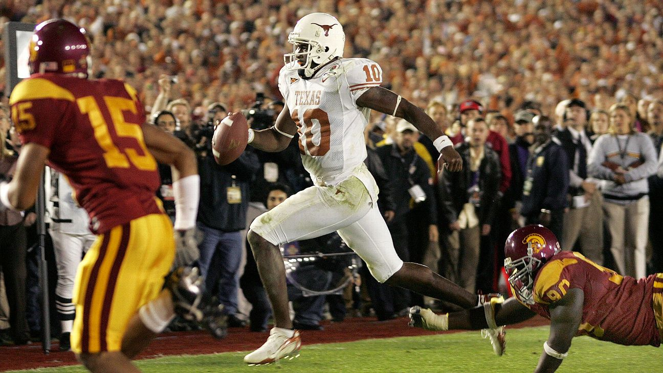 Vince Young led the Longhorns to the national championship in the 2005 season.