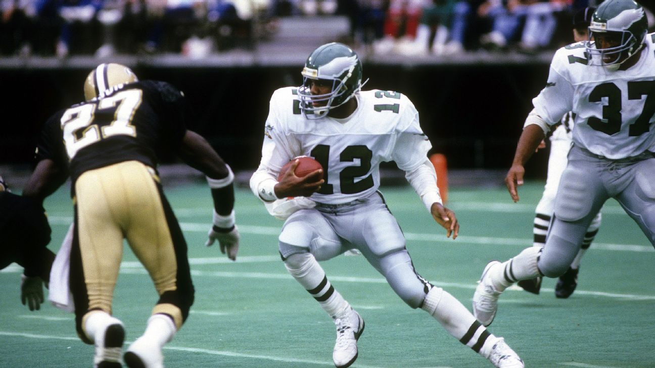 Randall Cunningham threw for 3,466 and 30 TDs -- and ran for 942 yards -- in 1990.