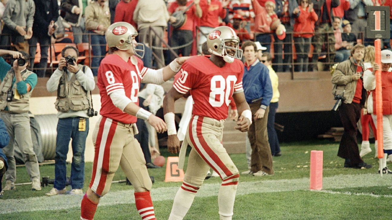 Jerry Rice caught 22 touchdown passes in 12 games in 1987.