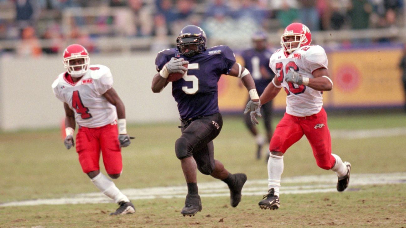 LaDainian Tomlinson ran for 2,158 yards and 22 touchdowns in 2000 and finished fourth in Heisman voting.