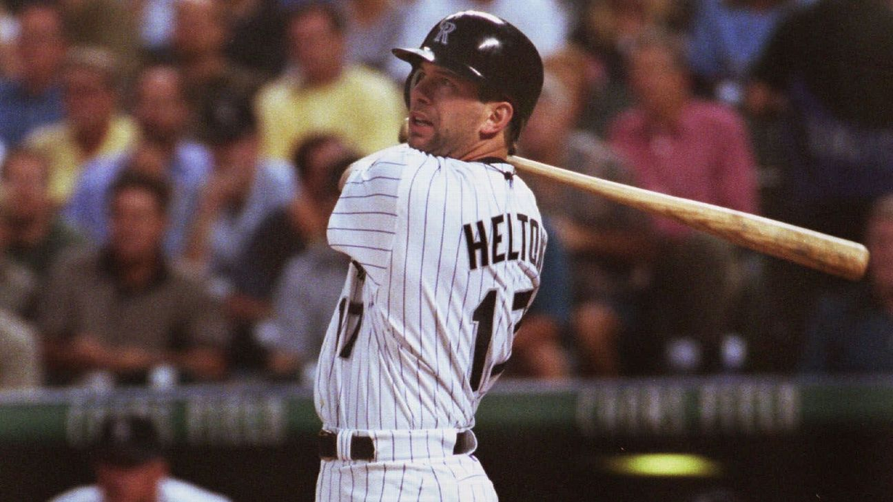 Todd Helton had some monster seasons in the thin air of Colorado.