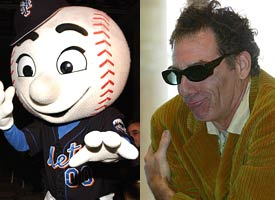 Kramer and Mr. Met
