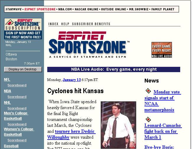 Whoa, New ESPN com