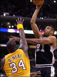 Shaquille O'Neal, Tim Duncan