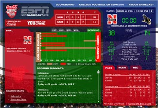 football collage espn college football gamecast live