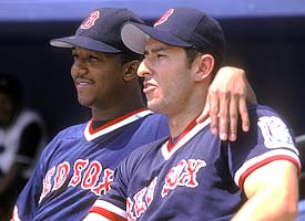 Pedro Martinez and Nomar Garciaparra