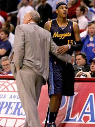 Carmelo Anthony and George Karl
