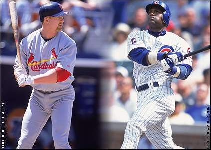 Image result for mcgwire sosa baseball images