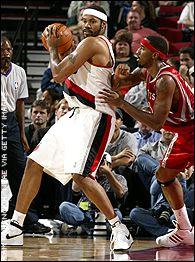 Rasheed Wallace and Eddie Griffin