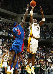 Ben Wallace and Jermaine O'Neal