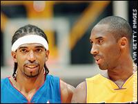 Richard Hamilton and Kobe Bryant