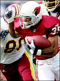Aeneas Williams' fumble return was changed to a record-tying 104 yards