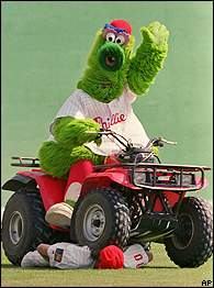 Phillie Phanatic destroys inner-city baseball in America, fans boo reflexively