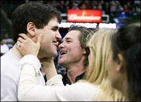 Mark Cuban, Kurt Russell and Goldie Hawn