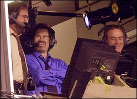 Dan Fouts, Dennis Miller and Al Michaels