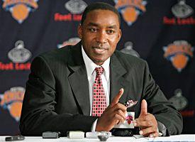 Knicks GM Isiah Thomas