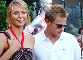 Maria Sharapova and Andy Roddick