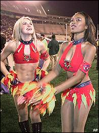Orlando Rage cheerleaders