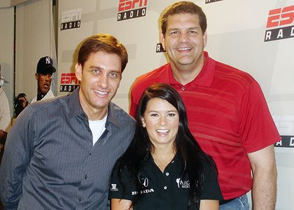 Greeny, Danica Patrick and Golic