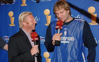 Boris Becker and Dirk Nowitzki