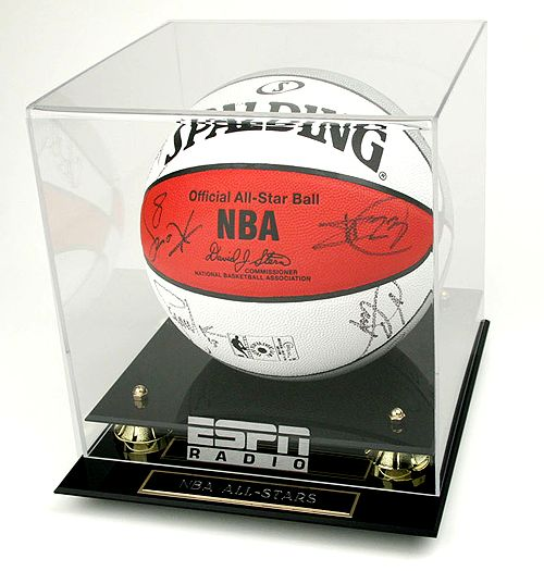 Official NBA All-Star Game Spalding Basketball signed by Lebron James,
