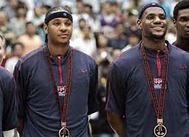 Dwyane Wade, Carmelo Anthony and LeBron James